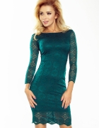 Sukienka koronkowa ZIELEŃ BUTELKOWA L 40...