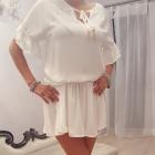 Zwiewna biała sukienko tunika
