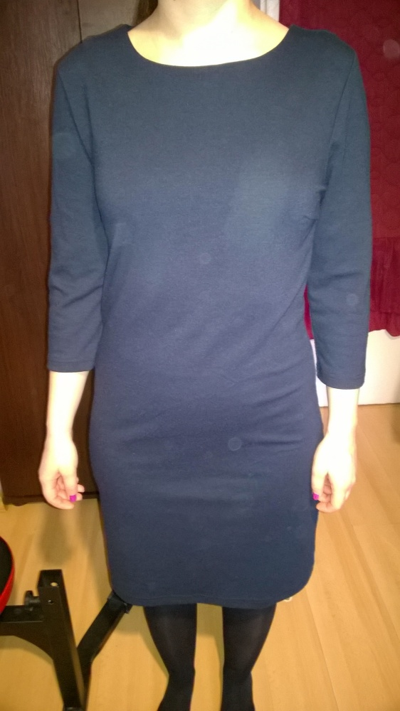 Suknie i sukienki granatowa sukienka Only XS z zamkiem