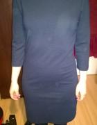 granatowa sukienka Only XS z zamkiem...