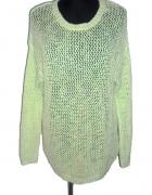 BIK BOK miętowy ażurowy sweter r 38...