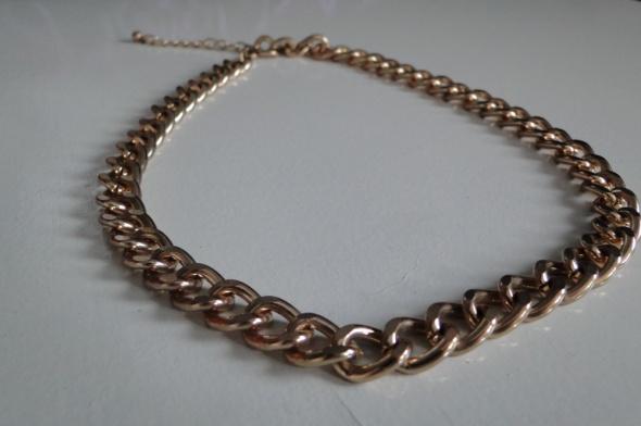 Naszyjnik gruby łańcuch złoty