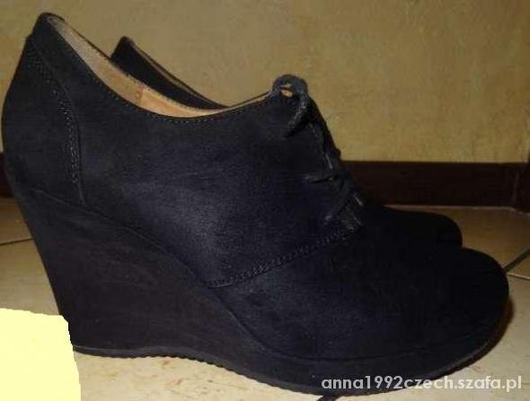 Botki buty na koturnie Deichmann