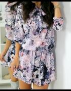 Sukienka pastelowa kwiaty