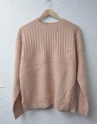ASOS sweter oversize pudrowy różowy 38