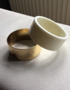bransoletka biało złota koło...