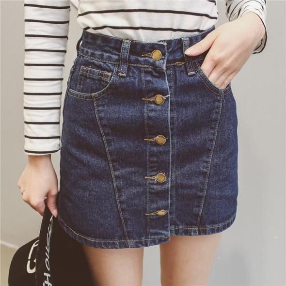 spódniczka z guzikami wysoki stan jeans lub zamsz Szukam