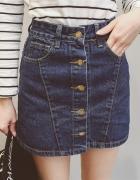 spódniczka z guzikami wysoki stan jeans lub zamsz Szukam...