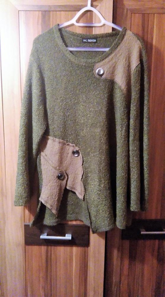 sweter khaki filc 16 18