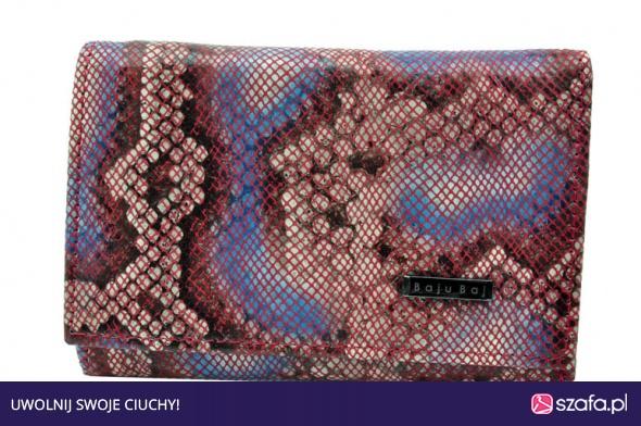 d0054d110920e Portfel damski skórzany BajuBaj mozaika czerwony w Portfele - Szafa.pl