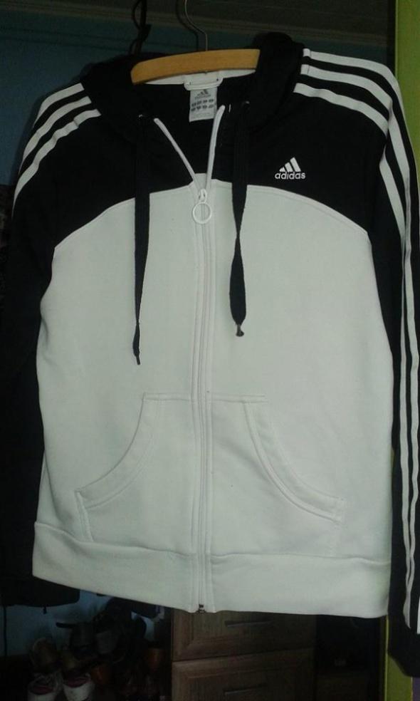 bluza adidas bialo czarna rozpinana