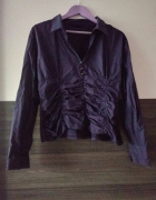 Bluzka koszula 42XL fioletowa