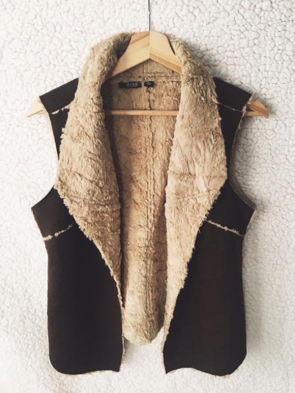 piękna kamizelka z futerkiem na zimę