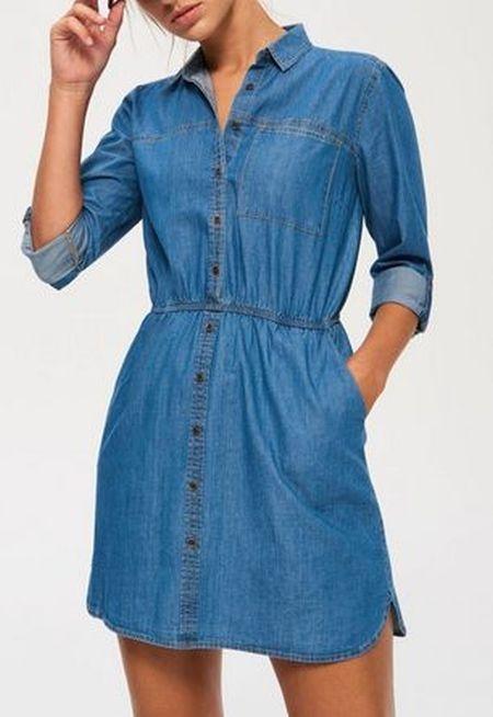Sinsay Jeansowa sukienka M...