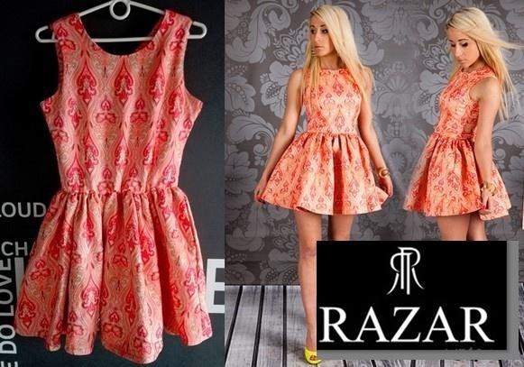 Suknie i sukienki RAZAR Oryginalna Sukienka ROZKLOSZOWANA