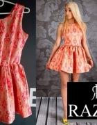 RAZAR Oryginalna Sukienka ROZKLOSZOWANA