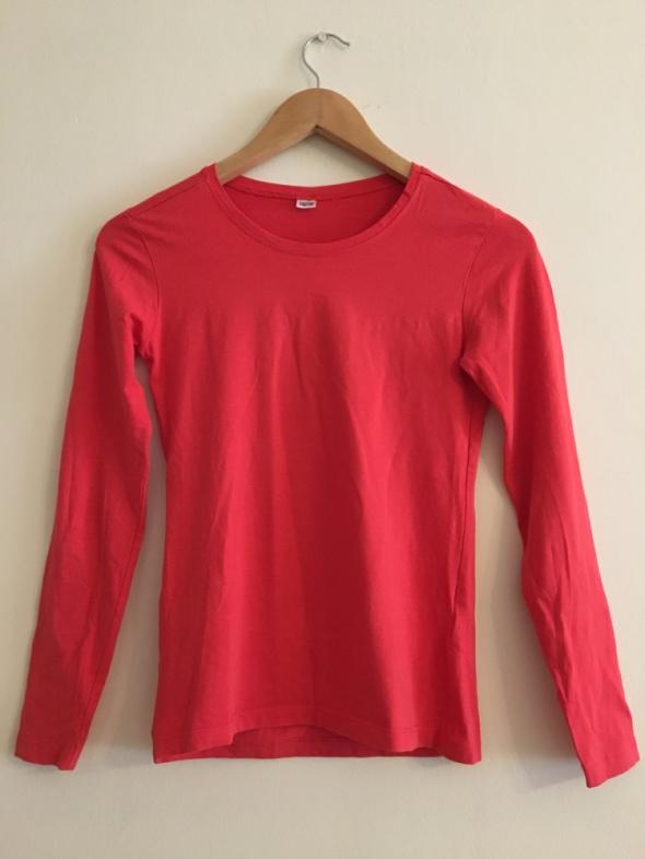 Bluzki Czerwona Bluzeczka Elegancka Bluzka Długi Rękaw 36 38 M
