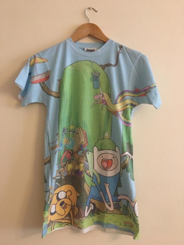 T-shirt Bluzka Koszulka Tshirt Pora Na Przygodę Kolorowy Nadruk Krótki Rękaw 36 M
