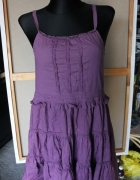 fioletowa sukienka śliczna boho
