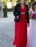 Piękna czerwona sukienka na studniówkę lub wesele