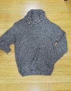 sweter męski z kołnierzem
