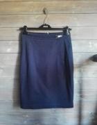 Spódnica elegancka ołówkowa granat Orsay S...