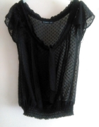 Mgiełka Atmosphere Koszula czarna kropki elegancka bluzka
