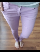 jasno fioletowe spodnie