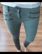 spodnie z zamkami rozm s