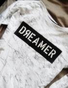 House bluza bluzka Dreamer napis marmurkowa bawełna