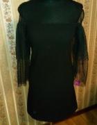 Czarna sukienka wizytowa