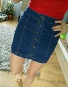 spodniczka jeans guziki xs s jak bershka