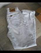 Lee jasne jeansy mom jeans vintage wysoki stan...