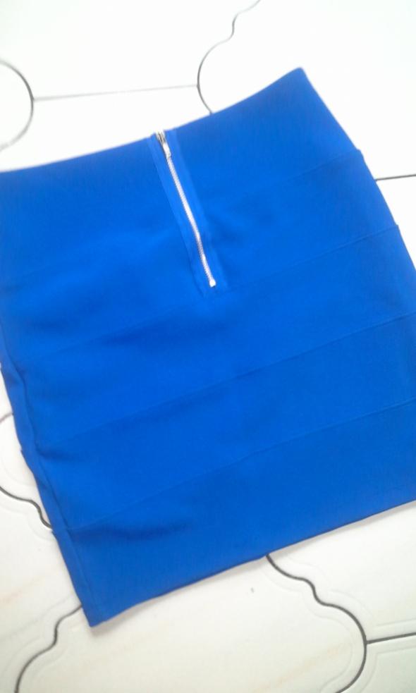 Spódnice Kobaltowa spodnica bandage bandazowa