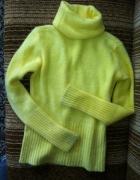 cytrynowy kanarkowy żółty GOLF fluffy miękki S 36