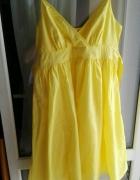 Żółta sukienka letnia XL