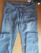 Spodnie hm szare rurki skinny jeansy