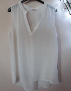 Biała koszula bez rękawów mgiełka rozmiar S 36 elegancka...