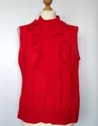Krwisto czerwona elegancka bluzka mgiełka Marks i Spencer...