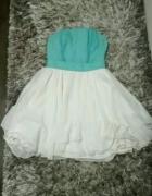 sukienka miętowo Biała...