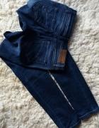 jeansy rurki skiny granatowe z dziurami Tally Weijl XS S