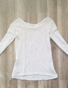 biały elegancki ażurowy sweter sweterek bluza 36 S