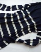 RALPH LAUREN lniany sweter w pasy 42