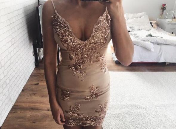 piękna świecąca sukienka impreza do klubu na wesele cudna blogerska