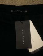 nowe wytłaczane spodnie zara cygaretki wysoki stan