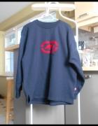 Ecko granatowa bluza dresowa vintage retro