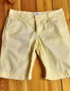 Spodnie spodenki szorty H&M 38 M żółte bawełniane