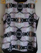 Nowa bluzka H&M 40 L 38 M czarna floral top kwiaty