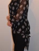 Bluzka czarna w grochy rozmiar SM