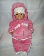 Gap różowy welurowy dres roz newborn